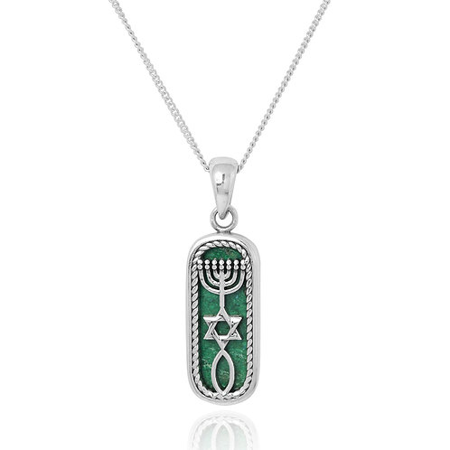 NP12315-CRY - Classic Messianic pendant with Chrysocolla stone