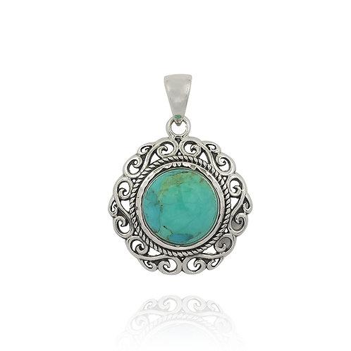 NP12048-BLTQ - Elegant Royal Turquoise Pendant