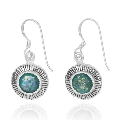 NEA3750-RG - Classic Roman Glass Ethnic style earrings