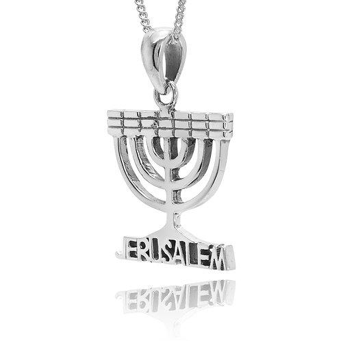 NP11657 - Sterling Silver Judaica Pendant - Israeli Jewelry