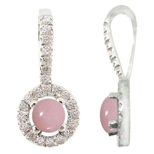 NP9651-PPKOP - Elegant Peru Pink Opal and CZ pendant