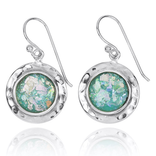 NEA3726-RG - simple and adorable Roman Glass Earings