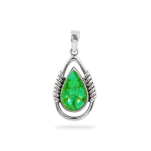 NP11531-RGT - Reconstructed Green Turquoise Drop and Rope Design