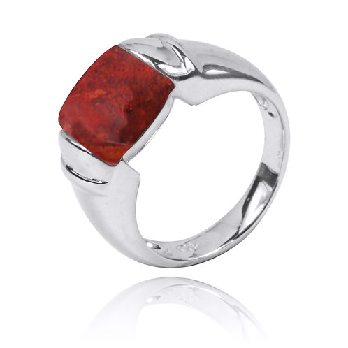 NRB0764-SPC - Classic Ring with Sponge coral