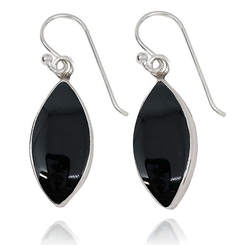 NEA3717-BKON - Classic Marquise shape earrings with Black Onyx