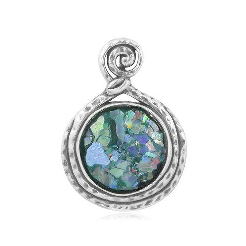 NP11567-RG -Wire Design Roman Glass Pendant