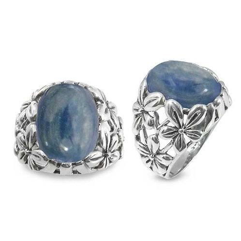 NRB6067-KYA - Elegant Flower Design Ring with kyanite