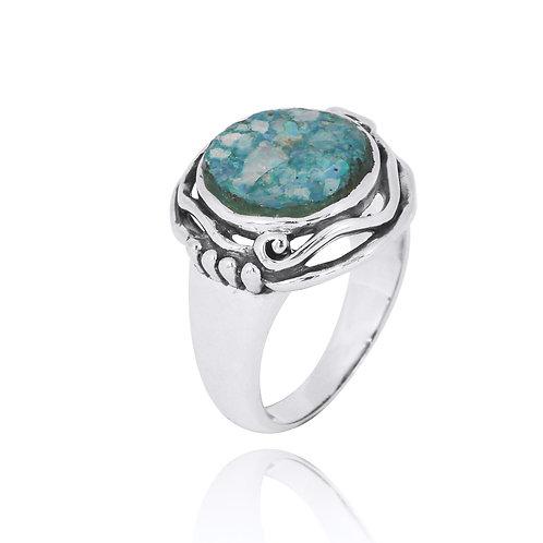 NRB8805-RG - Unique Roman Glass Ring