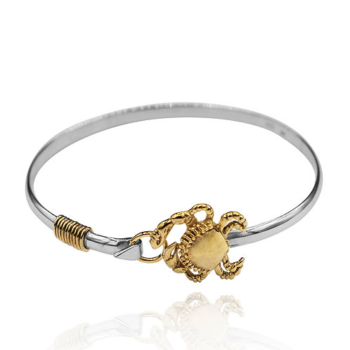 NB0609 - 18K Gold Plated Sea Life Bangle - Crab Design