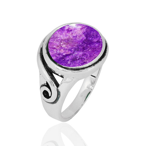 NRB8802-SUG -  Round Shape Sugilite  Elegant Contemporary Ring
