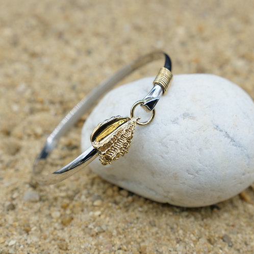 NB0786 - 18K Gold Plated Sea Life Bangle