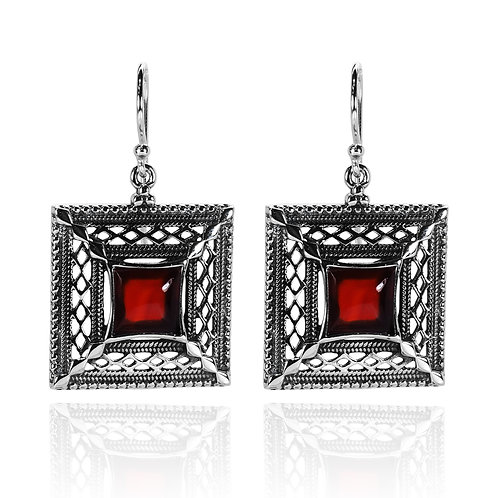 RSE1298 - CAR - Sterling Silver Gemstome Earrings - Handmade Jewelry