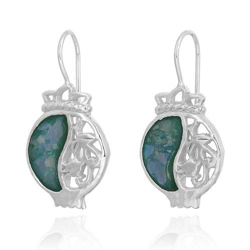 NEA3601-RG - Pomegranate Elegant Earrings