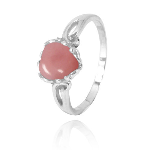 NRB3304-PPKOP -  Heart Shape Peru Pink Opal Ring