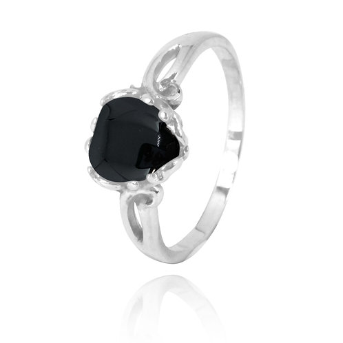 NRB3304-BKON -  Heart Shape Black Onyx Ring