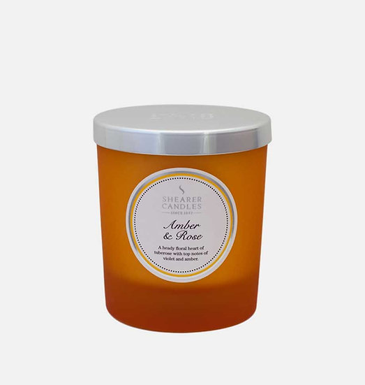 Shearer Candle Amber & Rose Jar Candle - Couture Collection