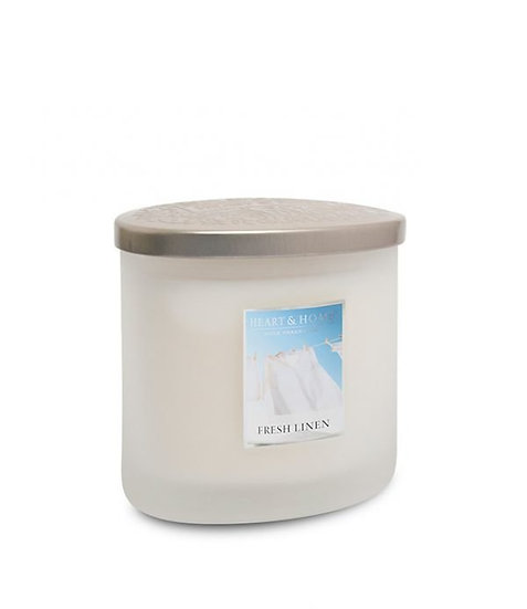 Heart & Home Fresh Linen - 2 Wick Ellipse Candle