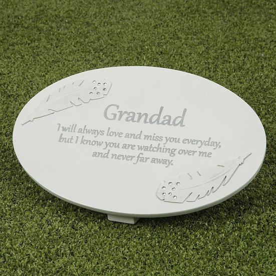 Thoughts Of You Grandad - Memorial Plaque