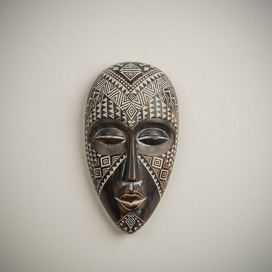African Style Ornate Wall Hanging Tribal Mask