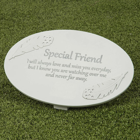 Thoughts Of You Special Friend - Memorial Plaque