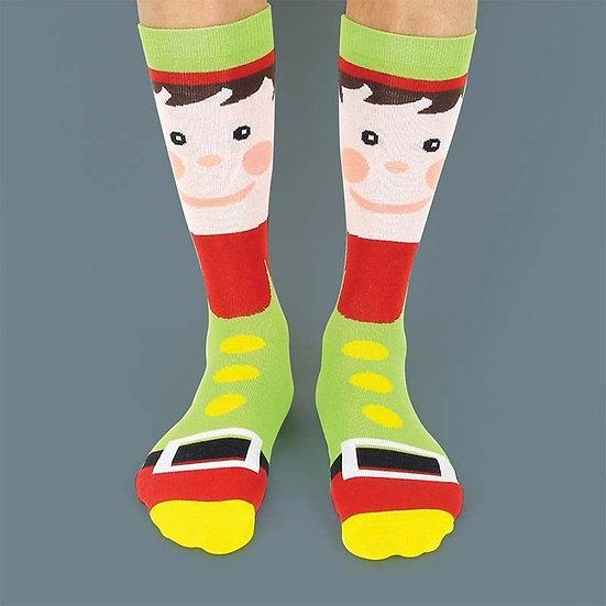 Elf Festive Socks - size 3-7