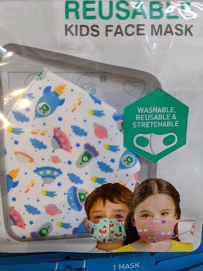 Kids Reusable Face Mask - Rockets