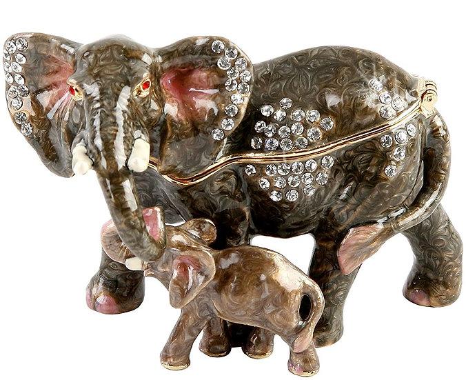 Elephant & Calf Treasured Trinket