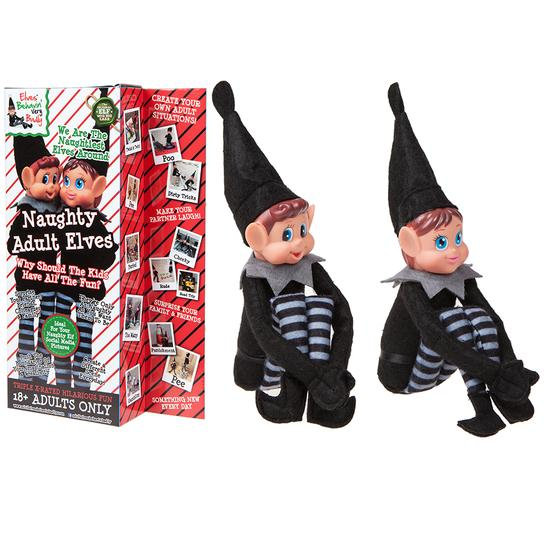 "Naughty Adult Elves 12"" 2pk"