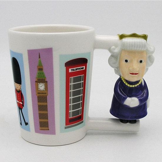 Queen Shaped Handle Mug