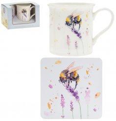 Country Life Bees Mug & Coaster Set