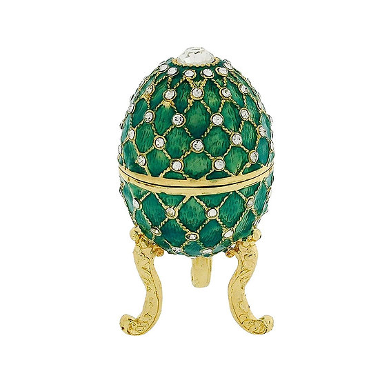 Small Green Faberge Egg Treasured Trinket