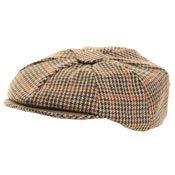 Peaky Blinders Style Tweed 8 Panel Flat Cap - Size 59cm