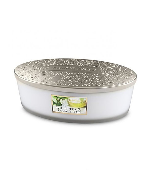 Heart & Home White Tea & Eucalyptus - 4 Wick Ellipse Candle