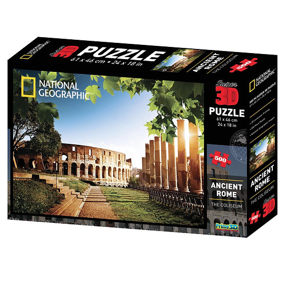 Ancient Rome - The Colosseum - 3D Jigsaw Puzzle (500 Pieces)