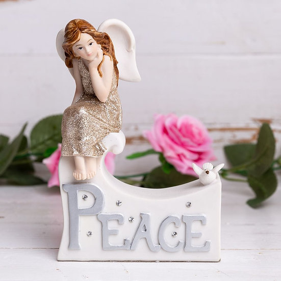 Thoughts Of You Angel Figurine - Peace