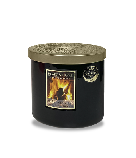 Heart & Home Welcoming Fire - 2 Wick Ellipse Candle