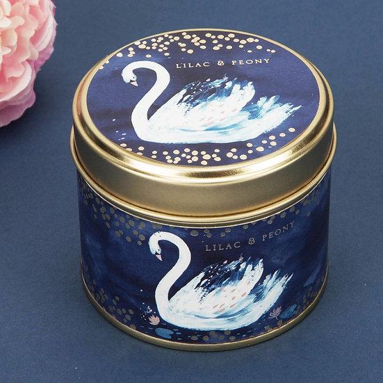 Swan Lake Lilac & Peony Candle Tin
