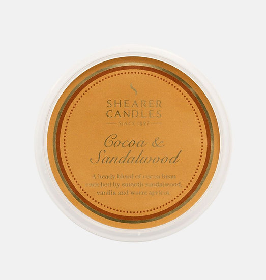 Shearer Candle Cocoa & Sandalwood Wax Melt - Couture Collection