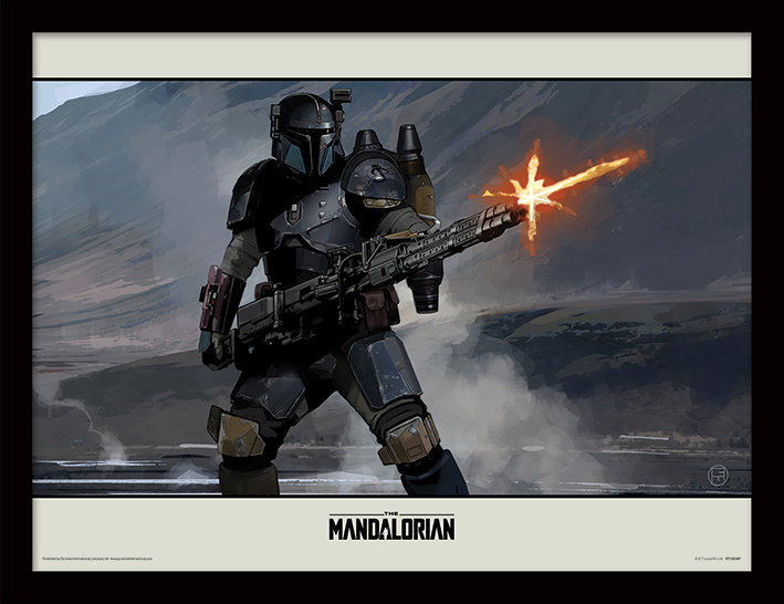 Star Wars The Mandalorian Shoot - Framed Print  - CLICK & COLLECT