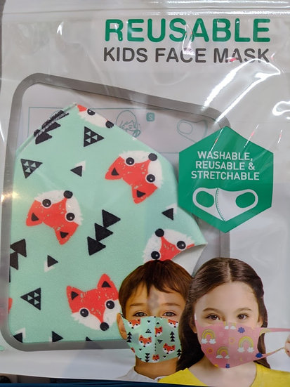 Kids Reusable Face Mask - Foxes