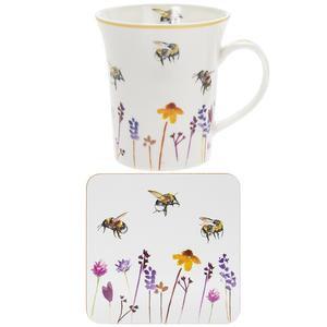 Busy Bees Mug & Coaster Set
