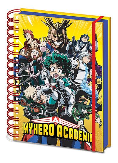 My Hero Academia Wiro Notebook - Radial Character Burst