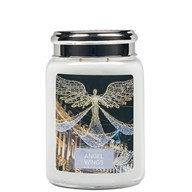 Village Candle Angel Wings - 26oz Large Candle Jar