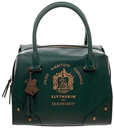Harry Potter Slytherin Luxury Plaid Top Handbag