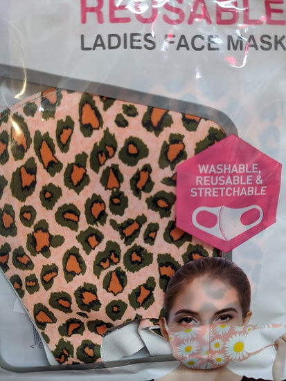 Ladies Reusable Face Mask - Animal Print