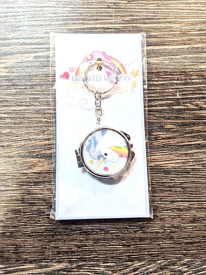 Unicorn Pocket Mirror Keychain