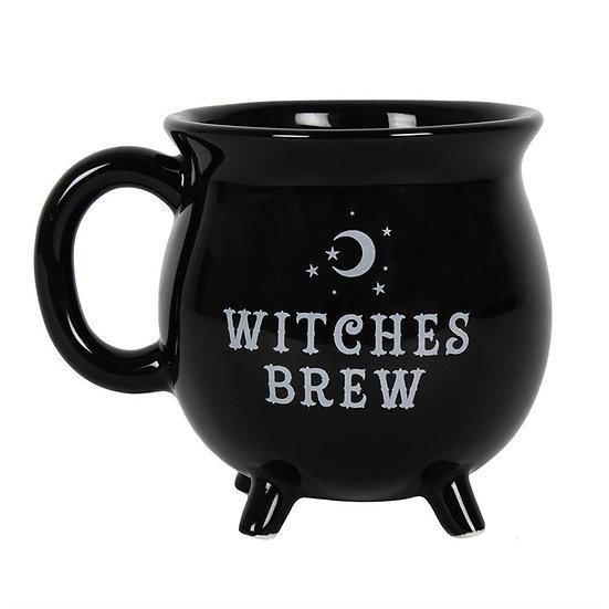 Black Witches Brew Cauldron Mug