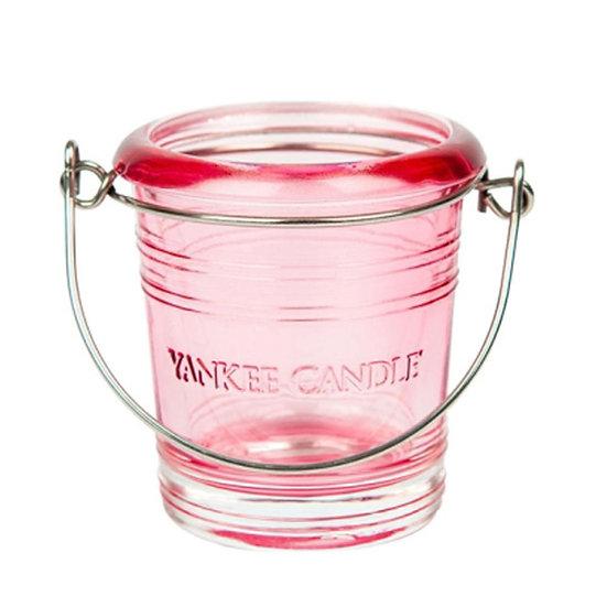 Yankee Candle Pink Glass Votive Bucket