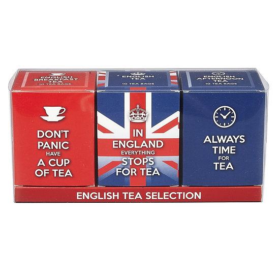 English Tea Slogans Triple Tea Gift Pack
