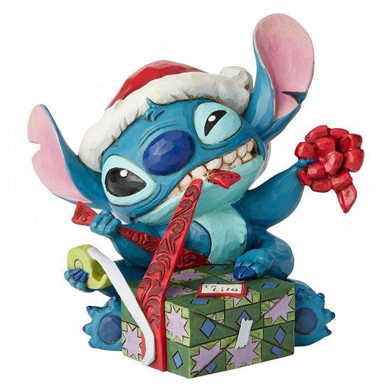 Disney Bad Wrap (Stitch with Santa Hat Figurine)